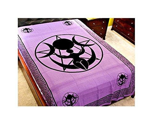 - Triple Moon Goddess Pentacle Tapestry in Purple - 72