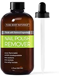 Pure Body Naturals Non-Toxic, Acetone-Free Nail Polish Remover, 4 Fl. Oz.