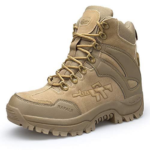 Stiefel Herren Wanderschuhe Damen Trekkingschuhe Armee Combat Tactical Boots Verschleißfest Rutschfeste Outdoor Einsatzstiefel Für Maenner Frauen Braun01