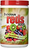 Greens World Delicous Reds 8000 Strawberry-Kiwi Flavor, 10.6 Ounce