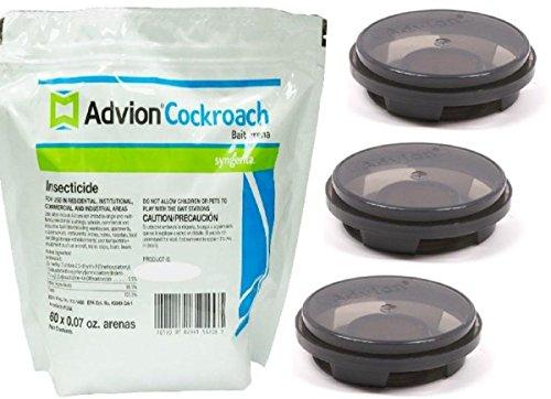 Avion Cockroach Bait Arenas 3 Pack Advion Roach Killer