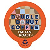 Double Donut Italian Roast Coffee, in Recyclable Single Serve Cups for Keurig K-Cup Brewers, 24 Count