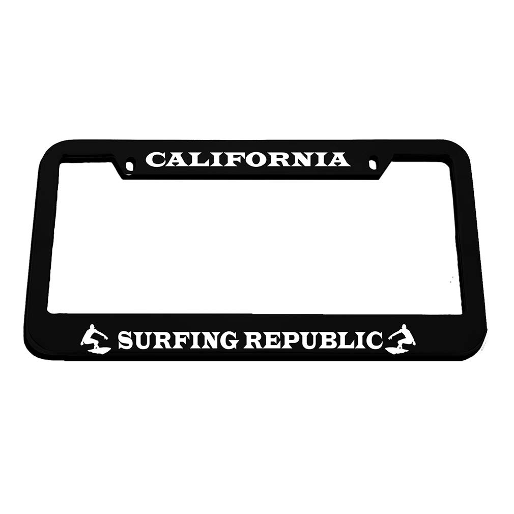 CALIFORNIA SURFING REPUBLIC Metal License Plate Frame Tag Holder