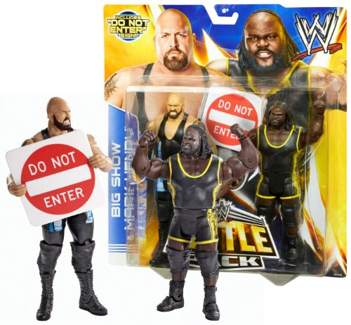 Big Show vs. Mark Henry Figure w/ Do Not Enter Sign: WWE Battle Pack Action Figure Series by WWE