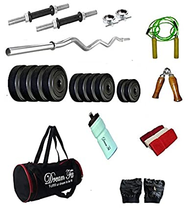 92d21906f5 DREAMFIT 32 KG Home Gym with 3ft CURL