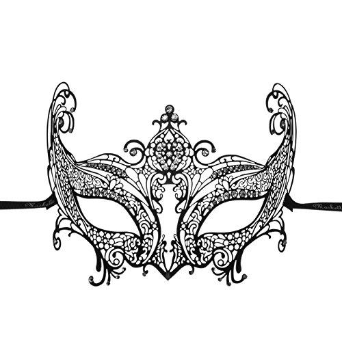 Luxurious Venetian Masquerade Filigree Mask - Malleable Laser-cut