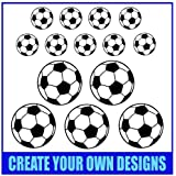 Football Wall Sticker Set, Decals, Graphics, Home, Any Colour.
