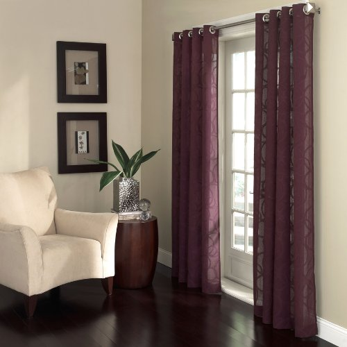 Allen + Roth Anaheim Sheer Curtain 84-in L Geometric Fres...