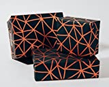 Organic Geometry / Black-Copper / Wrapping Paper 3 Sheets