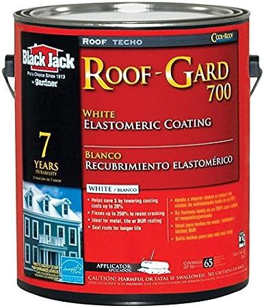 Black Jack Elastomeric Roof Coating Acrylic Interior White 3 6 Qt 7 Yr Roofing Materials Amazon Com