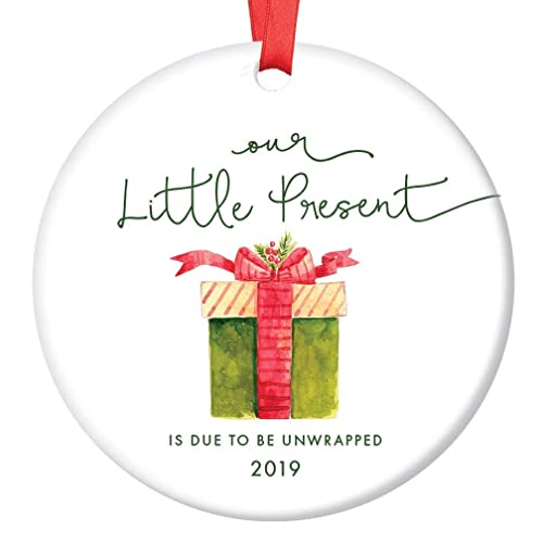 Gifts For Parents Christmas 2019 Amazon.com: Little Present Christmas Ornament Baby Due Date 2019