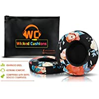 Wicked Cushions Beats Replacement Ear pads - Compatible with SOLO 2 / 3 Wireless On Ear Headphones by Dr. Dre ONLY ( DOES NOT FIT SOLO 2.0 WIRED ) | Black Floral