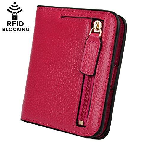 YALUXE Blocking Compact Bi fold Leather