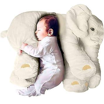 sdtdia Lindo Elefante Juguetes Blandos Animales Almohada rellena Elefante Gris Felpa bebé Almohada Pals cojín de Peluche de Juguete para niños ...