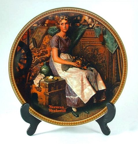 Bradford Exchange Dreaming in the Attic Plate from the Norman Rockwell's Rediscovered Women's Collection - CP1234