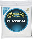 Martin M260 80/20 Bronze Ball End Classical Guitar Strings, Regular Tension