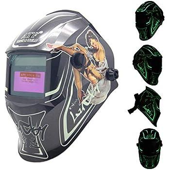 Automotive Welding Helmets Lucky Skull iMeshbean Solar Powered ...