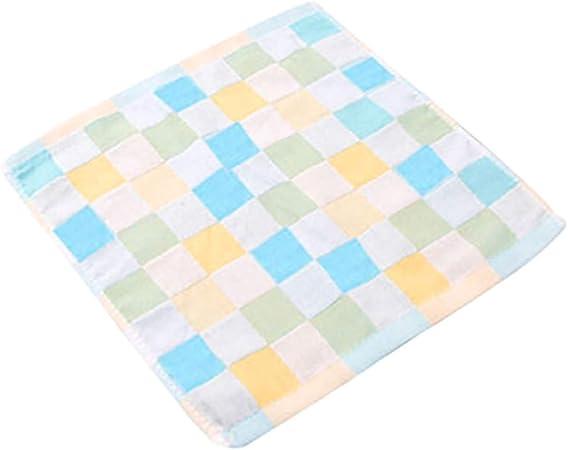Conquror toalla saliva, Caige algodón cuadrado bufanda gasa pequeña toalla doble bebé bebé saliva toalla para niños: Amazon.es: Hogar