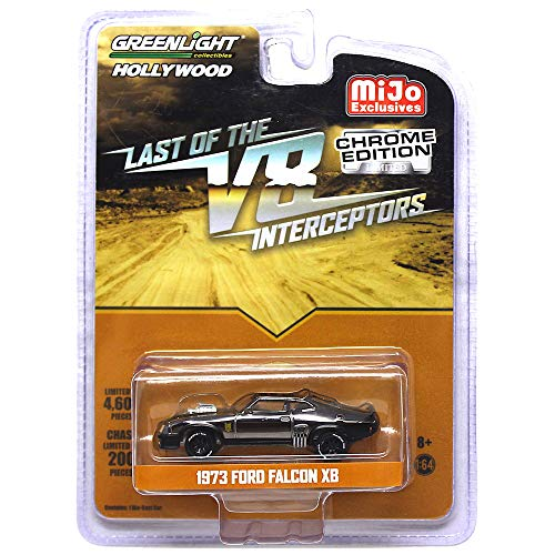 Greenlight Mad Max Last of The V8 Interceptors 1973 Ford Falcon XB Chrome Hollywood Vehicle 1:64 Scale (Mad Max Last Of The V8 Interceptors)