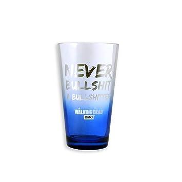 Martillo oficial de AMC THE WALKING DEADno Bullshit un bullshitter - Ezequiel Premium azul vaso de pinta, regalo: Amazon.es: Hogar