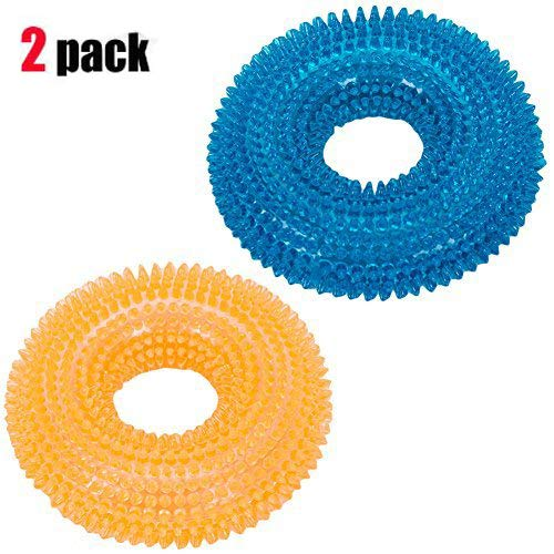 2 Pcs Pet Toys Bite Sound Toy Ball Durable Puppy Dog Squeaky