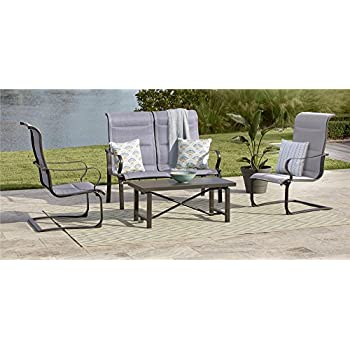 88a84ec3d5e0 COSCO 88401GLGE Outdoor Living SMARTCONNECT Padded Motion Patio Chairs,  Dark Gray/Light Gray,