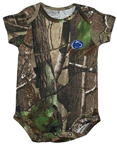 Penn State Nittany Lions NCAA Newborn Baby Camo Camouflage Creeper (Penn State Camo)