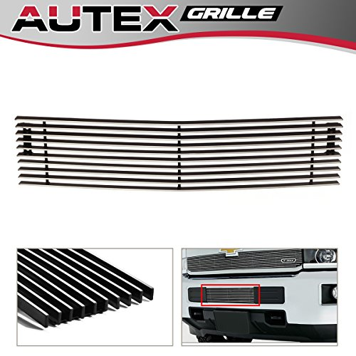 AUTEX Lower Bumper Billet Grille Insert Chrome Aluminum Polished C66319A for 2015 2016 2017 Chevy Silverado 2500HD 3500HD (Grille Billet Insert Silverado)