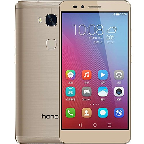HUAWEI Honor 5X Android 5.1 Qualcomm Snapdragon 616 Octa Core 3GB RAM 16GB ROM Unlocked Cellphone (Gold)
