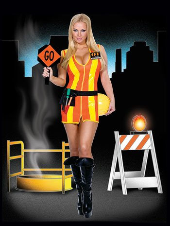 [Dreamgirl Construction Worker Woman] (Girl Construction Worker Costumes)