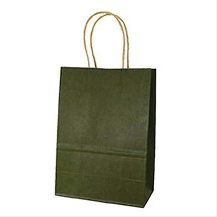 FHFF - Bolsa de papel kraft con asas, color dulce, bolsa de ...