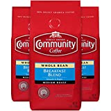 Community Coffee Premium Whole Bean Coffee, Breakfast Blend, Medium Roast, 12 oz., (Pack of 3)