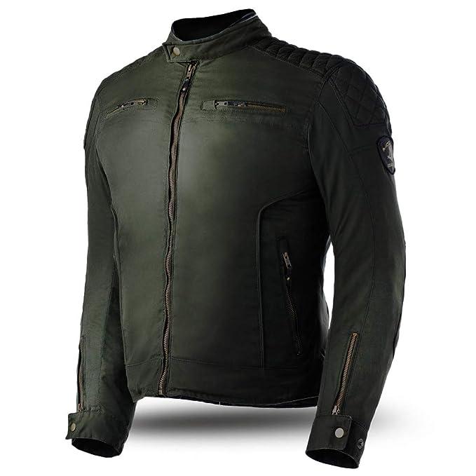 Bela Chaquetas para Hombres Fury Chaqueta de Moto de algodón Encerado - Chaquetas con Protecciones: Amazon.es: Ropa y accesorios
