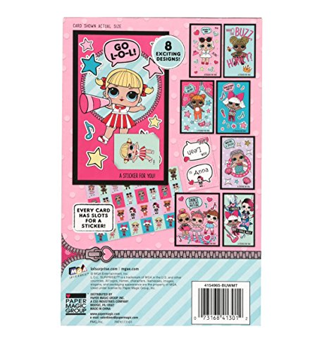 32 count LOL Surprise Doll Valentine Cards with Glitter Stickers Photo #2