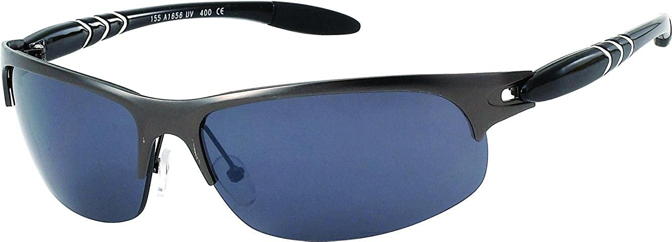 75260a74b980 Amazon.com  Chic-Net sunglasses Mens glasses bicycle glasses tinted 400UV  semicircles metal frame  Jewelry