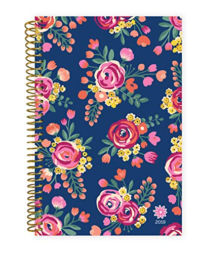 bloom daily planners 2019 Calendar Year Day Planner - Passion/Goal Organizer - Monthly and Weekly Dated Agenda Book - (January 2019 - December 2019) - 6 x 8.25 - Vintage Floral