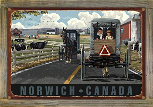 (Northwest Art Mall Norwich Canada Country Horse Buggy Rustic Metal Print on Reclaimed Barn Wood by Paul A. Lanquist (12
