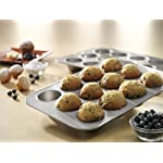 USA Pan Bakeware Easy Slide Non Stick Cookie Sheet Pan, Small, Silver 26 Made in the USA aluminized steel Small cookie scoop pan, commercial grade and heavy gauge Unique corrugated surface design facilitates air circulation for evenly baked goods and quick release Coated with Americoat - a silicone that is PTFE, PFOA and BPA free; made with a blend of New and recycled steel; Limited life-time