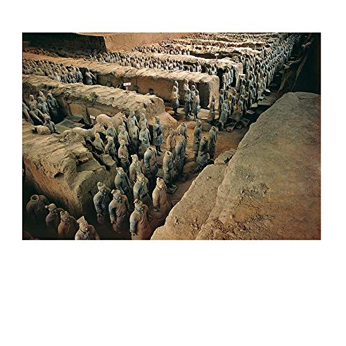 Yingxin34 Terracotta Warriors Museum 1000 Pieces Puzzle Paper A3 Mini Decompression Decoration Home Adult Teen Jigsaw Toys ()