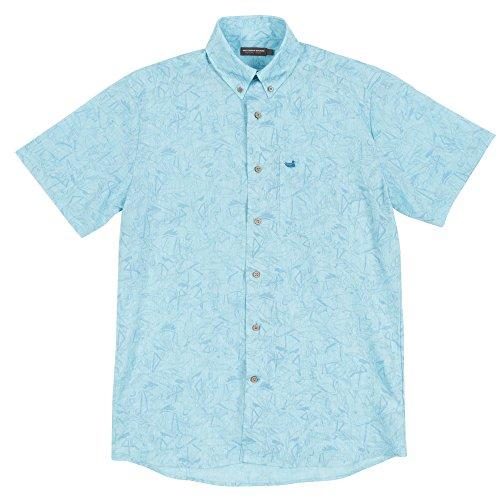 Southern Marsh Island Linen Shirt - Flamingos
