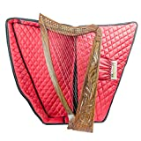 36 Inch Tall 22 String harp SOLID WOOD Extra Strings & Carrying case