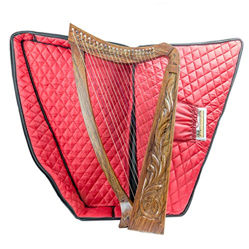 36 Inch Tall 22 String harp SOLID WOOD Extra Strings & Carrying case by ROYAL HARPS