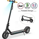TOMOLOO Electric Scooter with Foldable Design, 18.6 Miles Long-Range, Up to 15.5 MPH, Commuting Scooter, Portable E-Scooter with 8.5' Air Filled Tires, Cruise Control