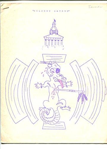 FSU SEMINOLES FOOTBALL GAME PLAN VS FL GATORS-1964-WELCOME GATORS-7 PAGES-vg