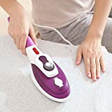 Kangkang@ Portable Hand Held Multi-functional Home Travel Hanging Steam Electric Dry Steamer Iron Steamer Brush EU Plug (purple)