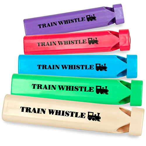 BuySeasons 190647 Plastic Train Whistles (Toy Buyseasons)