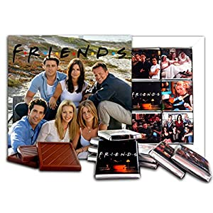 DA CHOCOLATE Souvenir Candy FRIENDS Chocolate Gift Set Famous TV series design 5x5in 1 box (Friends)