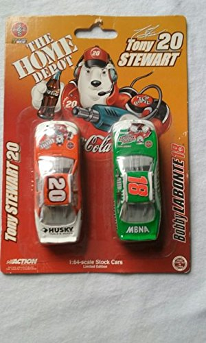 (Home Depot Nascar collectible 1:64-scale stock cars(bobby labonte & tony stewart))