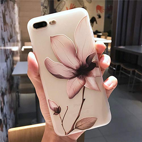 Retro Flower Phone Case for iPhone 6 6s 7 Plus 8 Plus X Case Silicone Fashion Women Soft Protection Cover for iPhone 8 7 Case