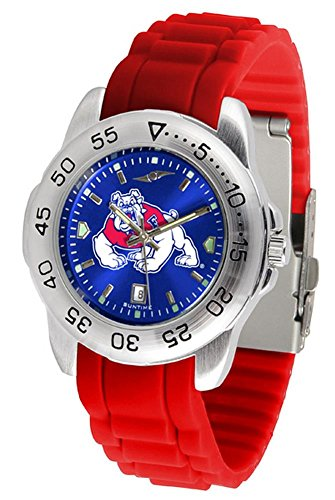Fresno Watch Wrist State - Fresno State Bulldogs Sport Silicone Men's Watch
